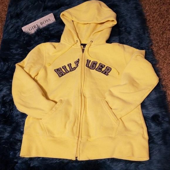 0298173fb Tommy Hilfiger Tops | Yellow Hoodie | Poshmark